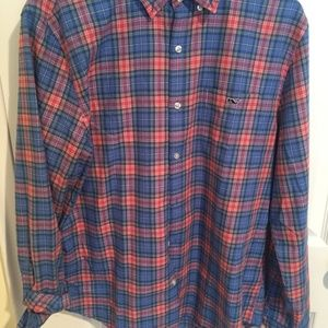 Vineyard Vines Slim Fit Tucker Shirt Large